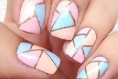 Geometric-pastel-nails-for-spring-2016